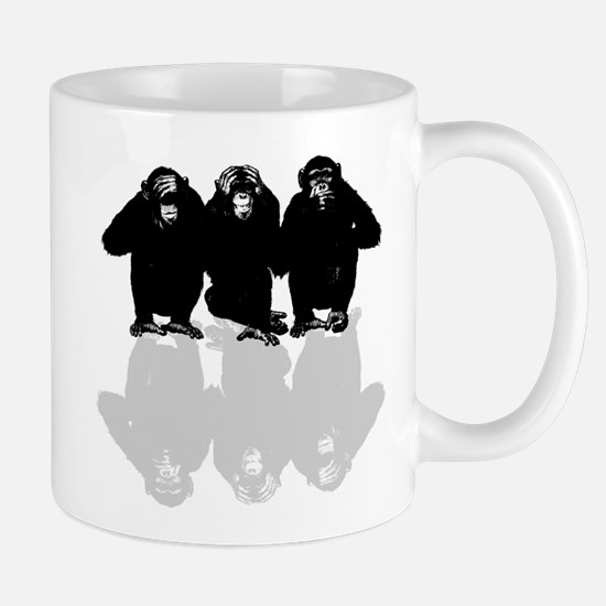 3 monkeys Mugs