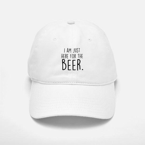 Here for the Beer Baseball Baseball Cap