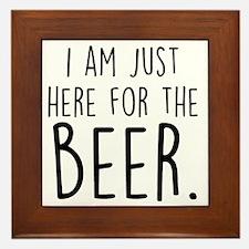 Here for the Beer Framed Tile