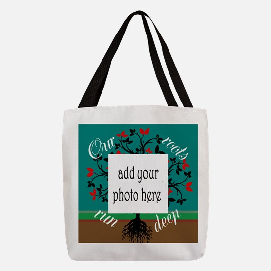 Our roots run deep: personalize Polyester Tote Bag