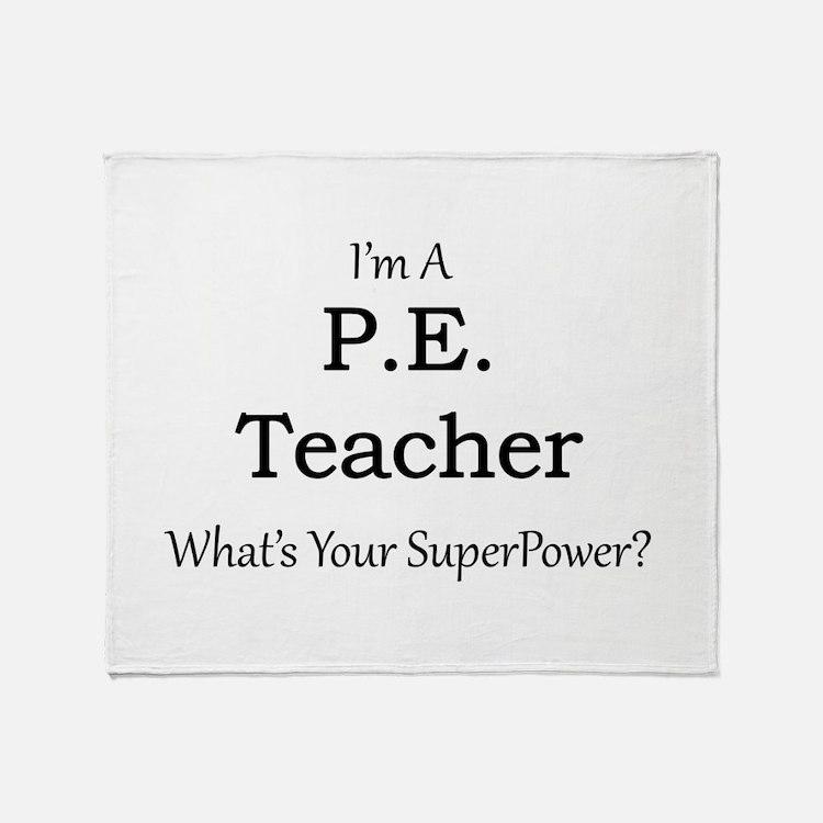 P.E. Teacher Throw Blanket