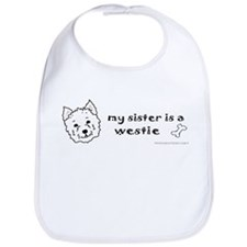 Cute Westie birthday Bib
