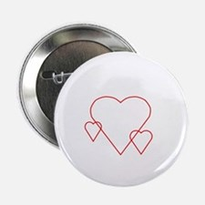 "Triple Hollow Hearts 2.25"" Button"