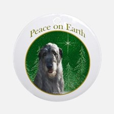 Wolfhound Peace Ornament (Round)