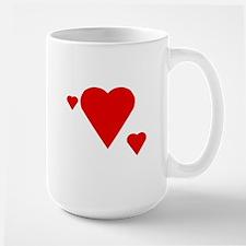 Triple Solid Hearts Large Mug