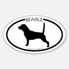 Cute Beagles dog Sticker (Oval 10 pk)