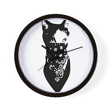 Cat Bandana Wall Clock