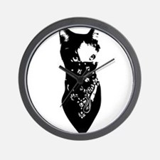 Cat Bandana Wall Clock