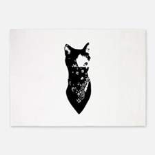 Cat Bandana 5'x7'Area Rug