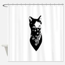 Cat Bandana Shower Curtain