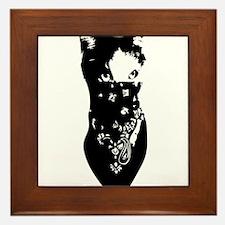 Cat Bandana Framed Tile