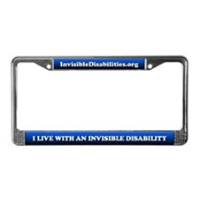 Invisible Disability License Plate Frame