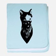 Cat Bandana baby blanket