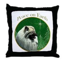 Keeshond Peace Throw Pillow