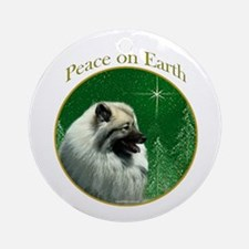 Keeshond Peace Ornament (Round)