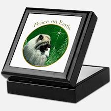 Keeshond Peace Keepsake Box