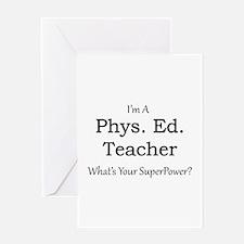 Phys. Ed. Teacher Greeting Cards