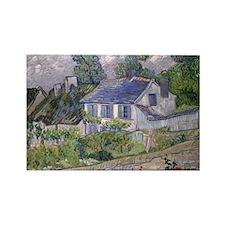 Vincent Van Gogh Houses At Auvers Rectangle Magnet
