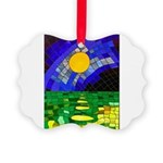 tmeret manymoons stained glass Picture Ornament