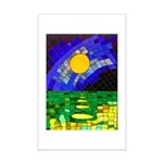 tmeret manymoons stained glass Mini Poster Print