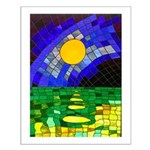 tmeret manymoons stained glass Small Poster