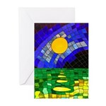 tmeret manymoons stained Greeting Cards (Pk of 10)