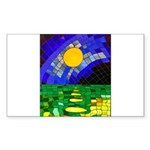 tmeret manymoons stained glass Sticker (Rectangle)