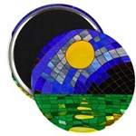 tmeret manymoons stained glass Magnet
