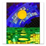 tmeret manymoons stained Square Car Magnet 3