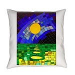 tmeret manymoons stained glass Everyday Pillow