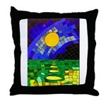 tmeret manymoons stained glass Throw Pillow