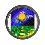 tmeret manymoons stained glass Wall Clock