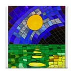 tmeret manymoons stained glass Tile Coaster
