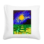 tmeret manymoons stained glas Square Canvas Pillow