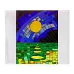 tmeret manymoons stained glass Throw Blanket