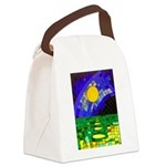 tmeret manymoons stained glass Canvas Lunch Bag