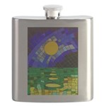 tmeret manymoons stained glass Flask