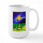 tmeret manymoons stained glass Large Mug