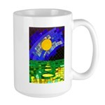tmeret manymoons stained glass Large Mug