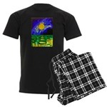 tmeret manymoons stained glass Men's Dark Pajamas