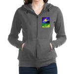 tmeret manymoons stained glass Women's Zip Hoodie