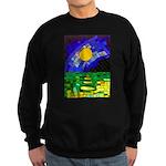 tmeret manymoons stained glass Sweatshirt (dark)