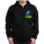 tmeret manymoons stained glass Zip Hoodie (dark)