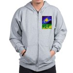 tmeret manymoons stained glass Zip Hoodie