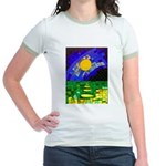 tmeret manymoons stained glass Jr. Ringer T-Shirt