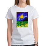 tmeret manymoons stained glass Women's T-Shirt