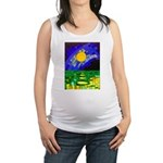 tmeret manymoons stained glass Maternity Tank Top