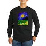 tmeret manymoons stained Long Sleeve Dark T-Shirt