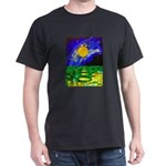 tmeret manymoons stained glass Dark T-Shirt