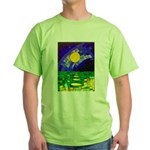 tmeret manymoons stained glass Green T-Shirt
